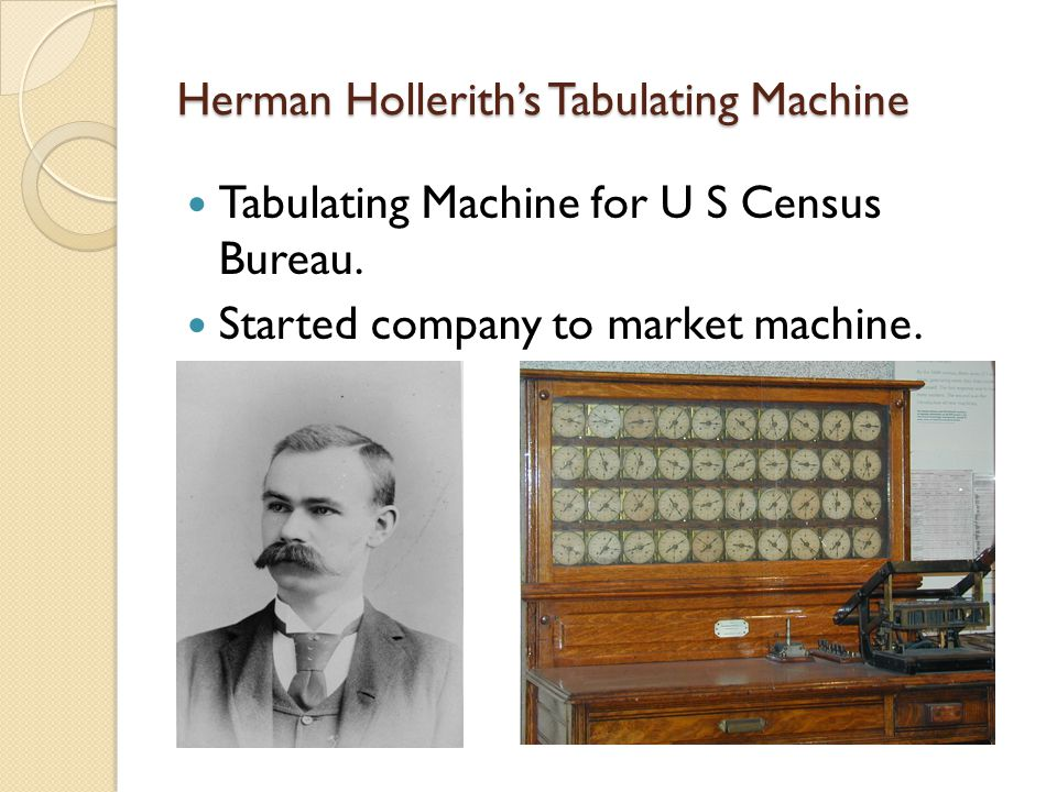 Herman Hollerith's Tabulating Machine