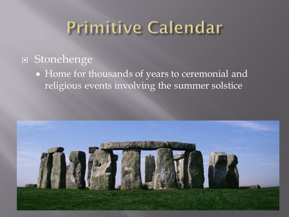 Primitive Calendar Stonehenge