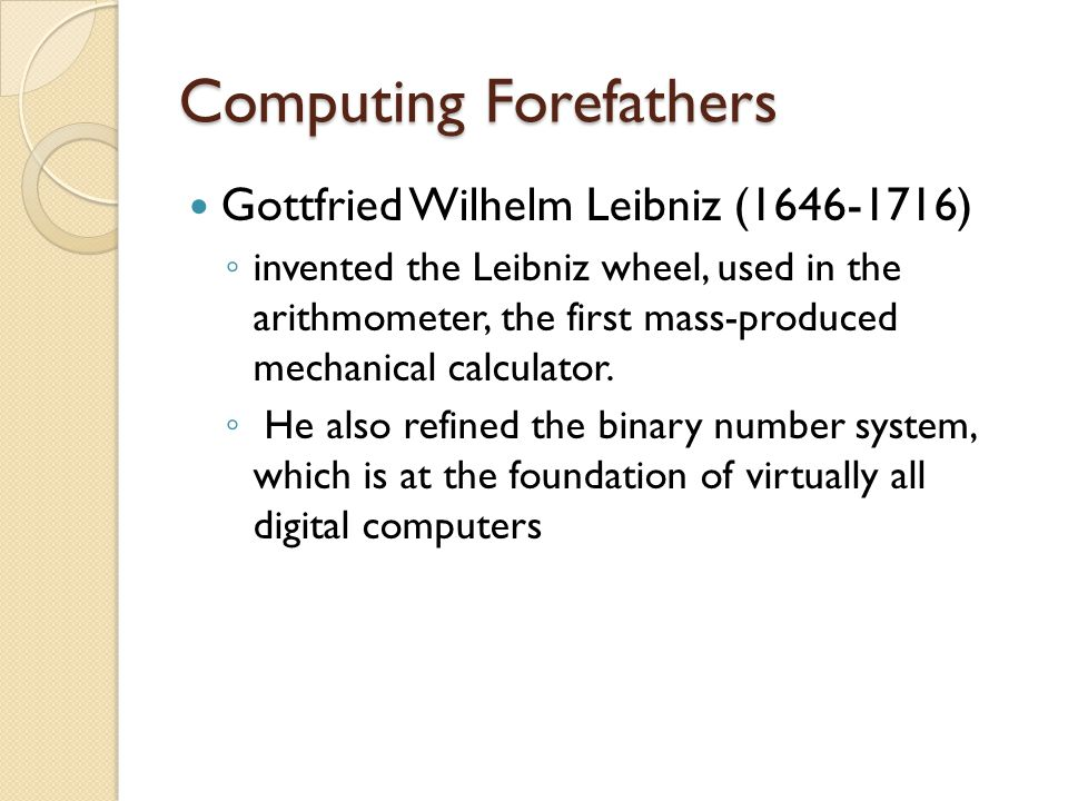 Computing Forefathers