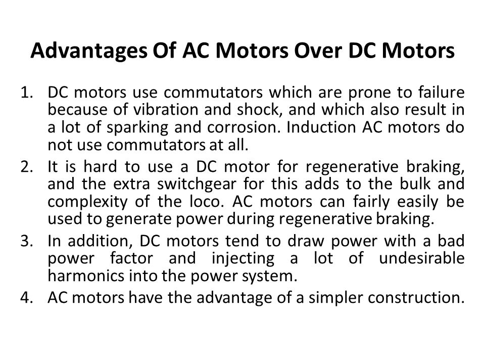 electric traction system ppt download ForAdvantages Of Ac Motor