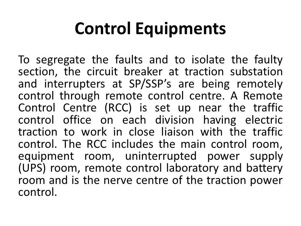 Control Equipments