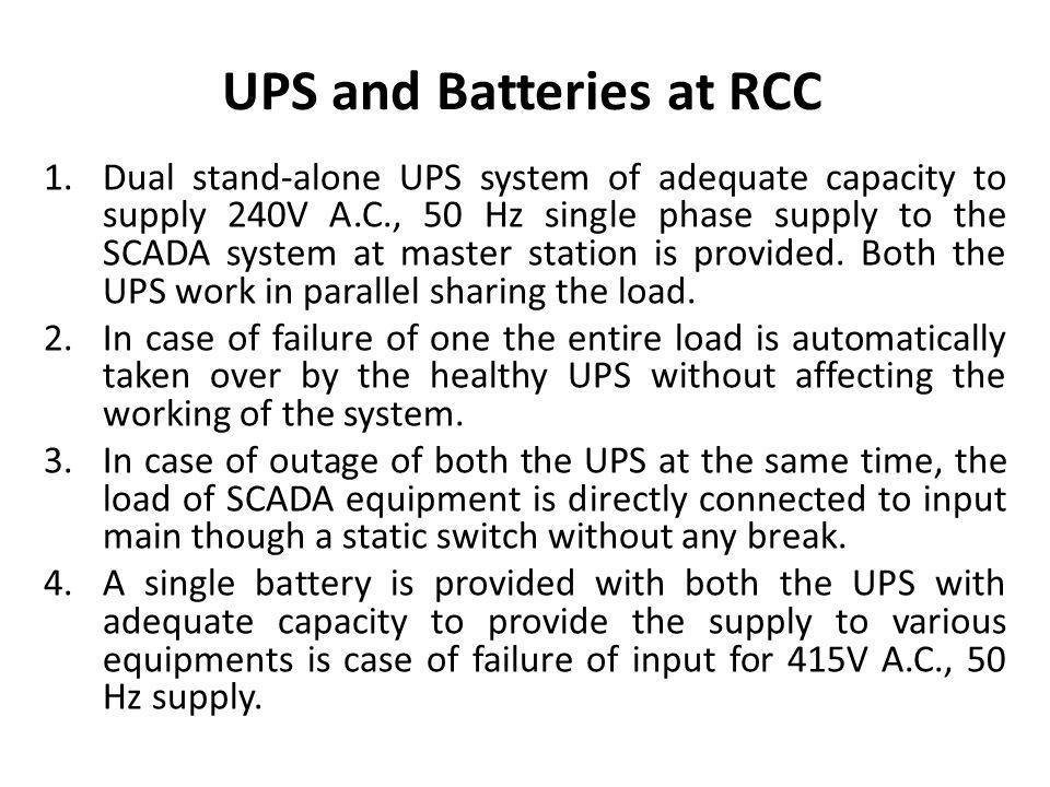 UPS and Batteries at RCC