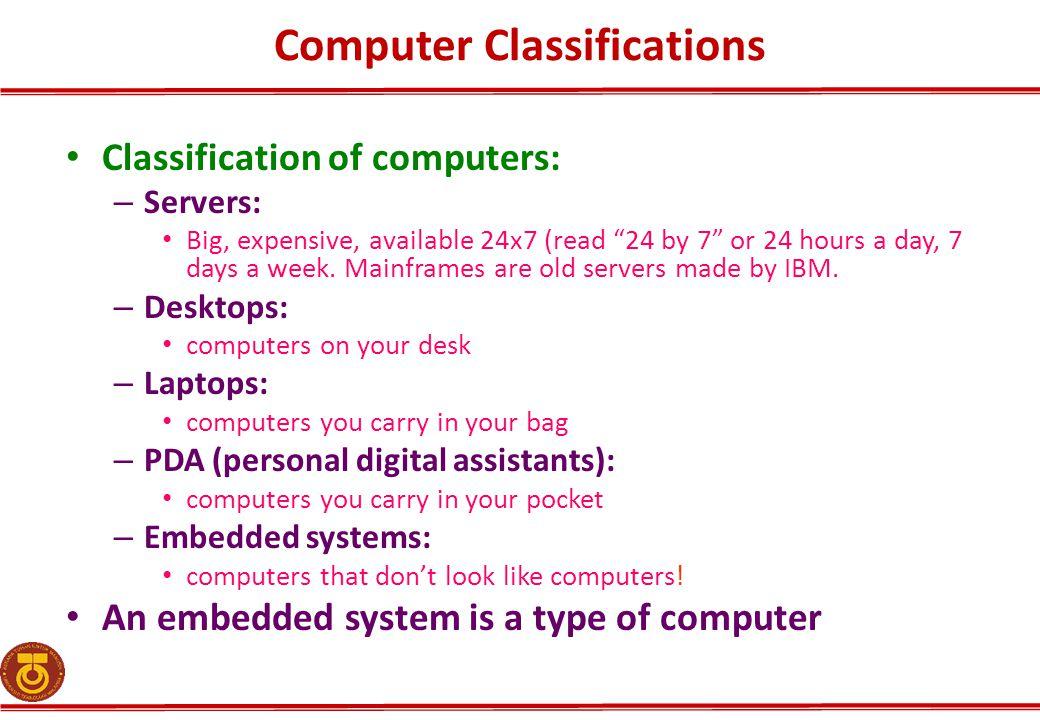 Computer Classifications