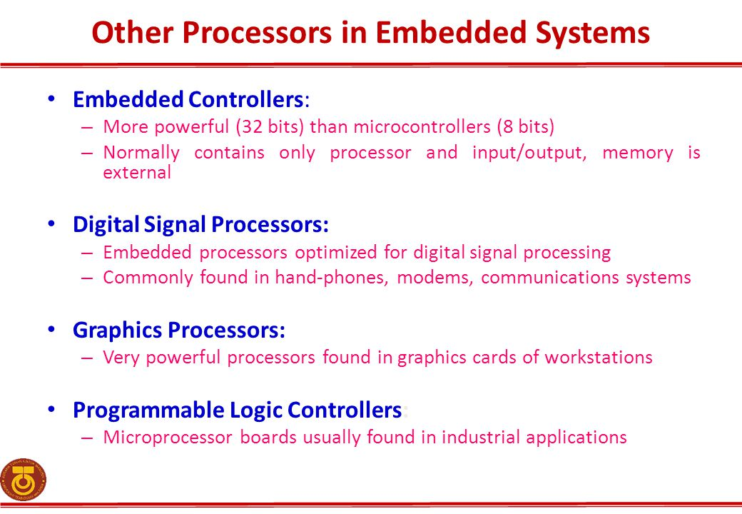 Other Processors in Embedded Systems