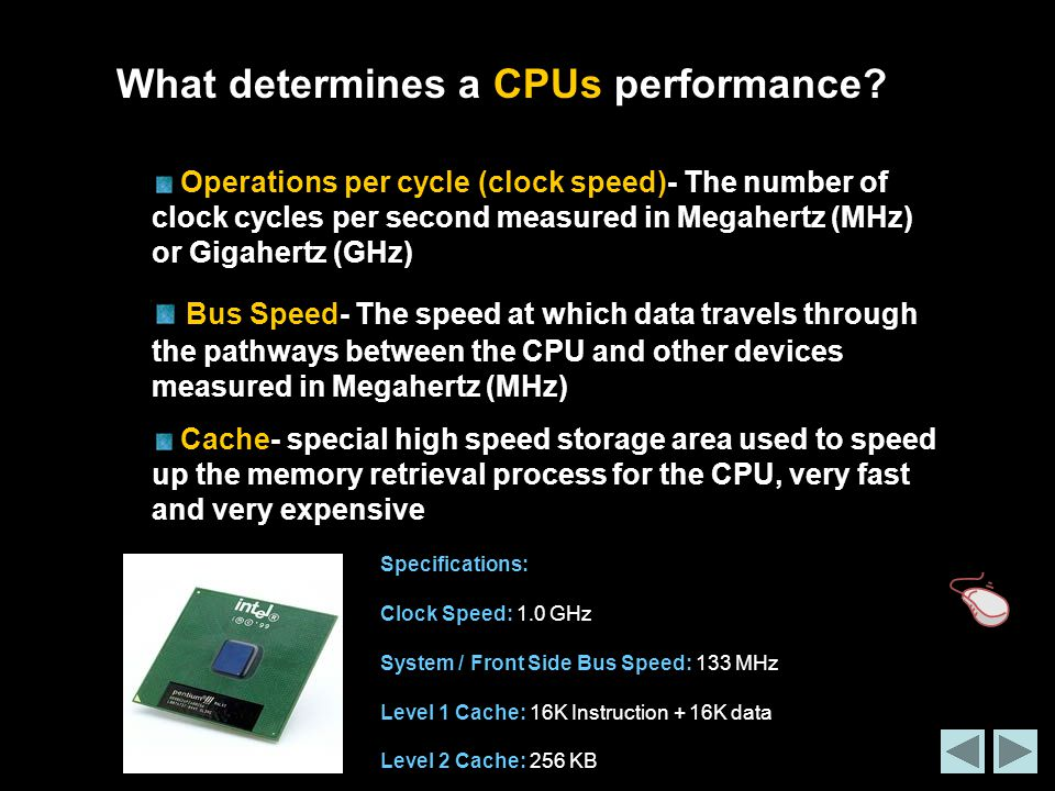 What determines a CPUs performance
