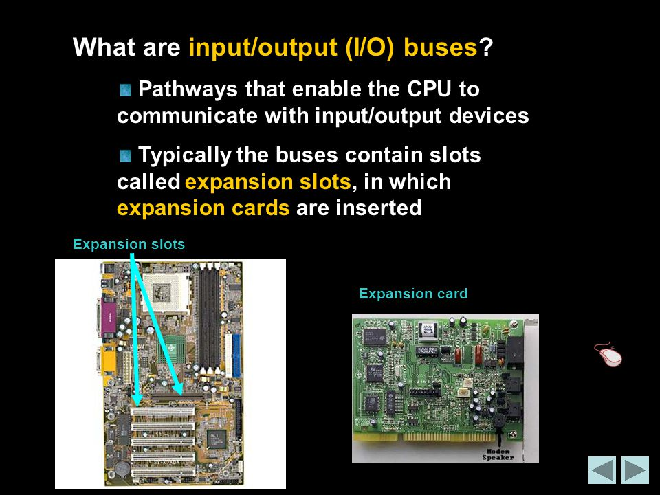 What are input/output (I/O) buses