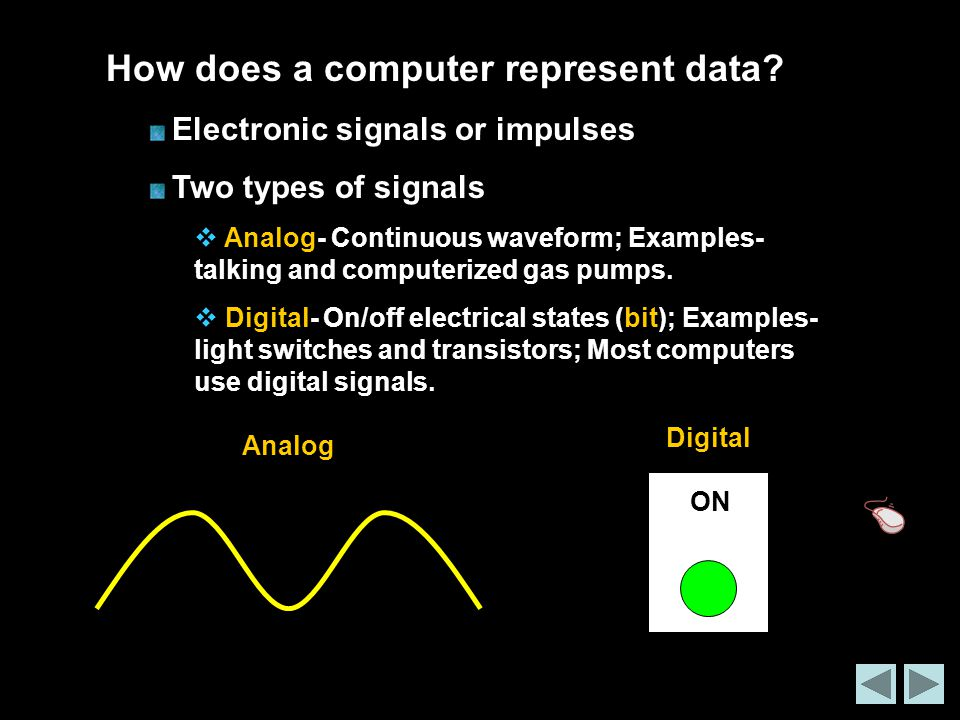 How does a computer represent data