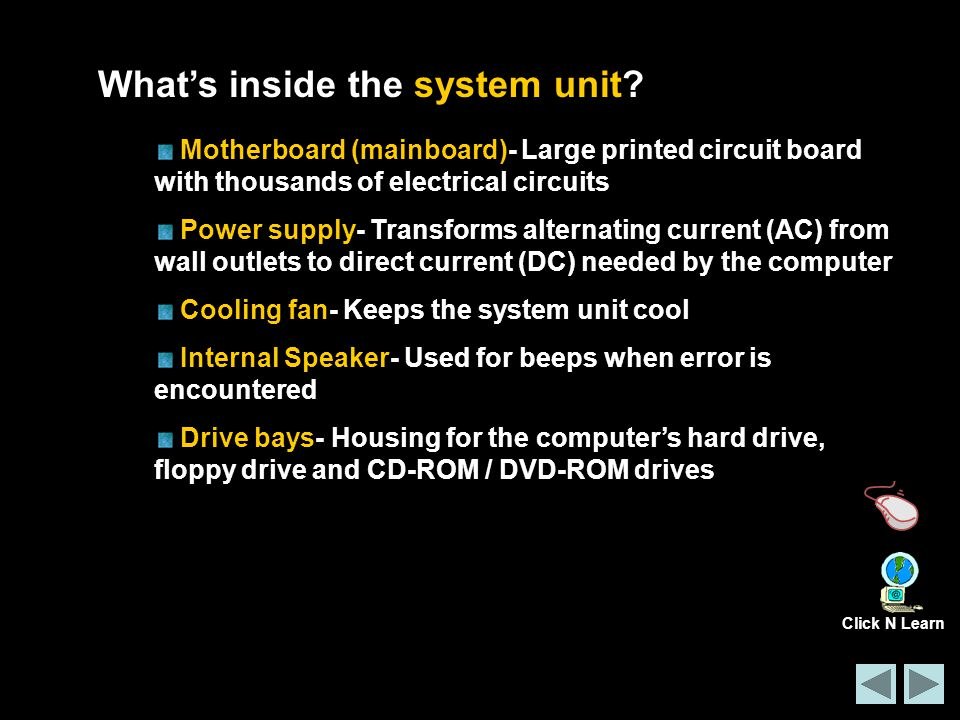 What's inside the system unit