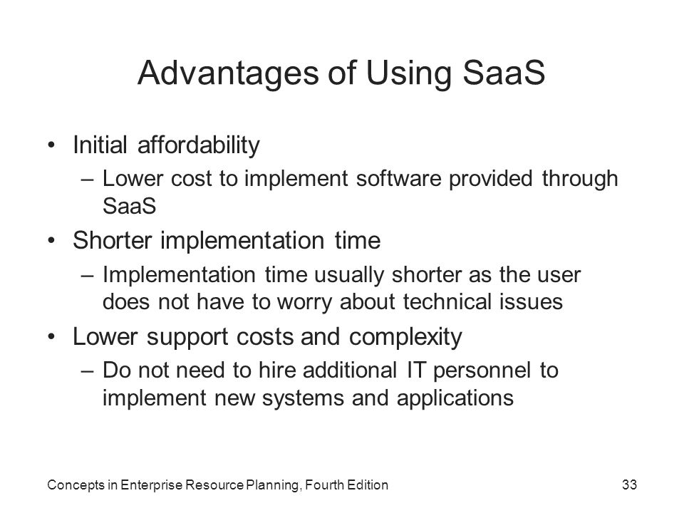 Advantages of Using SaaS