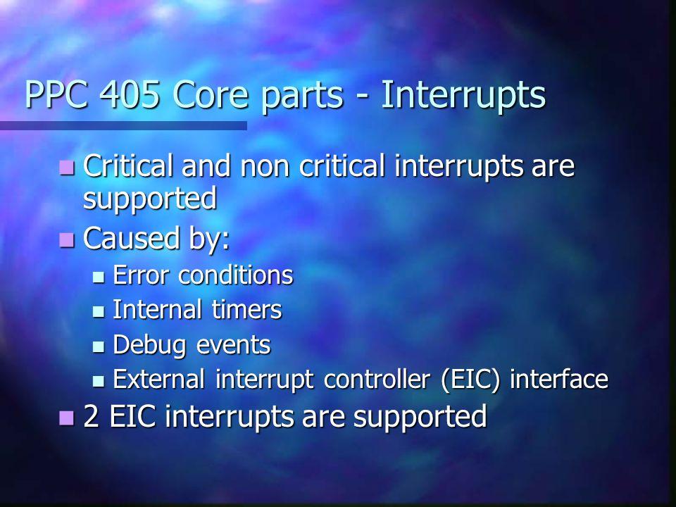 PPC 405 Core parts - Interrupts