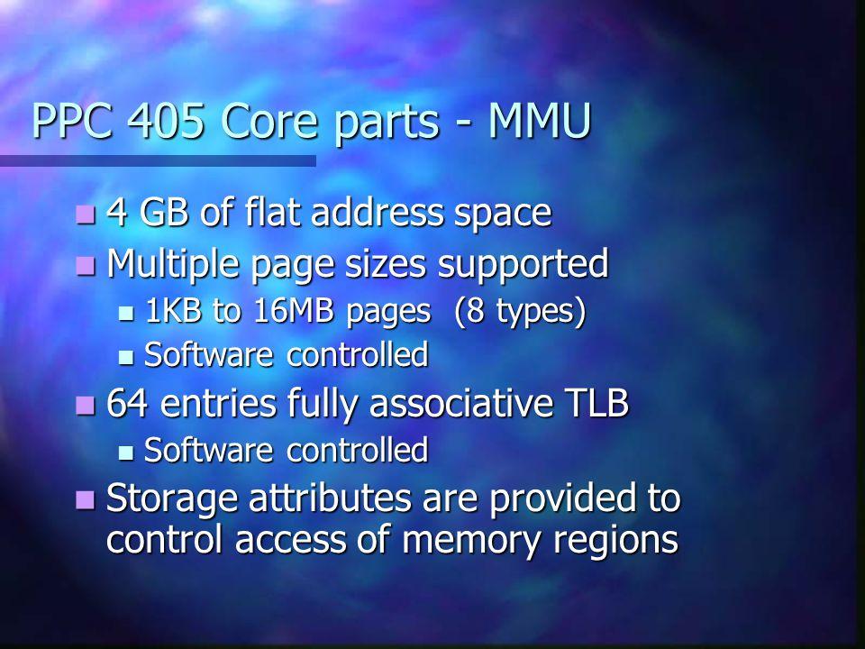 PPC 405 Core parts - MMU 4 GB of flat address space