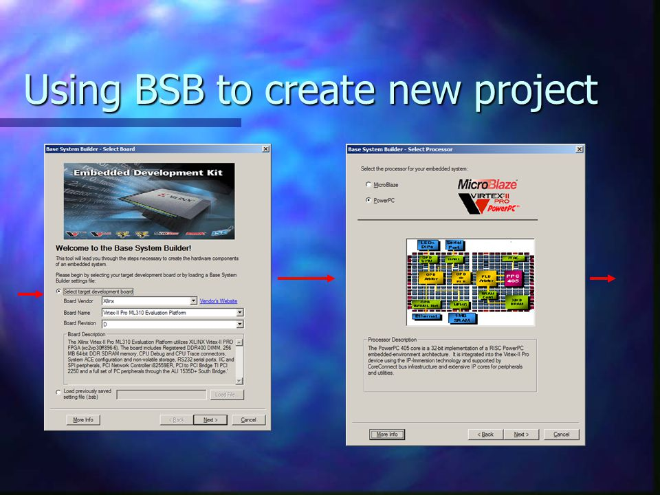 Using BSB to create new project