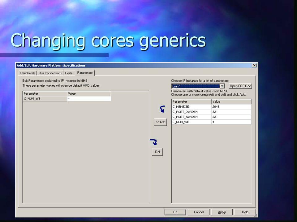 Changing cores generics