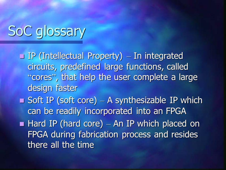 SoC glossary