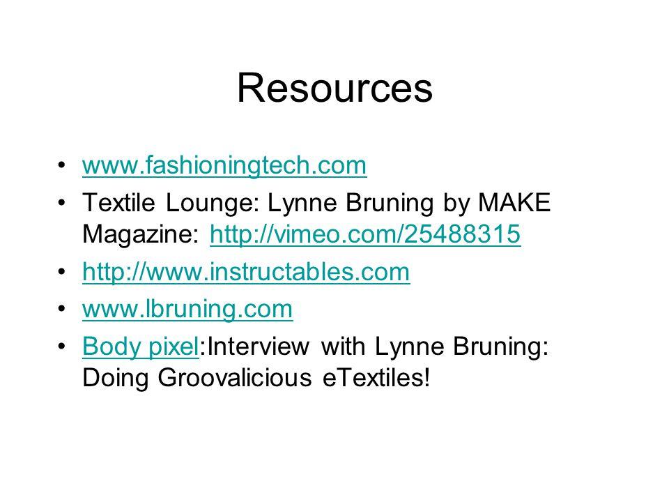 Resources www.fashioningtech.com