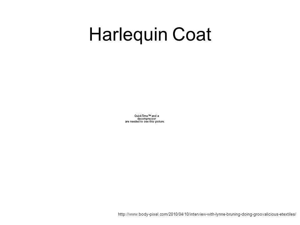Harlequin Coat http://www.body-pixel.com/2010/04/10/interview-with-lynne-bruning-doing-groovalicious-etextiles/