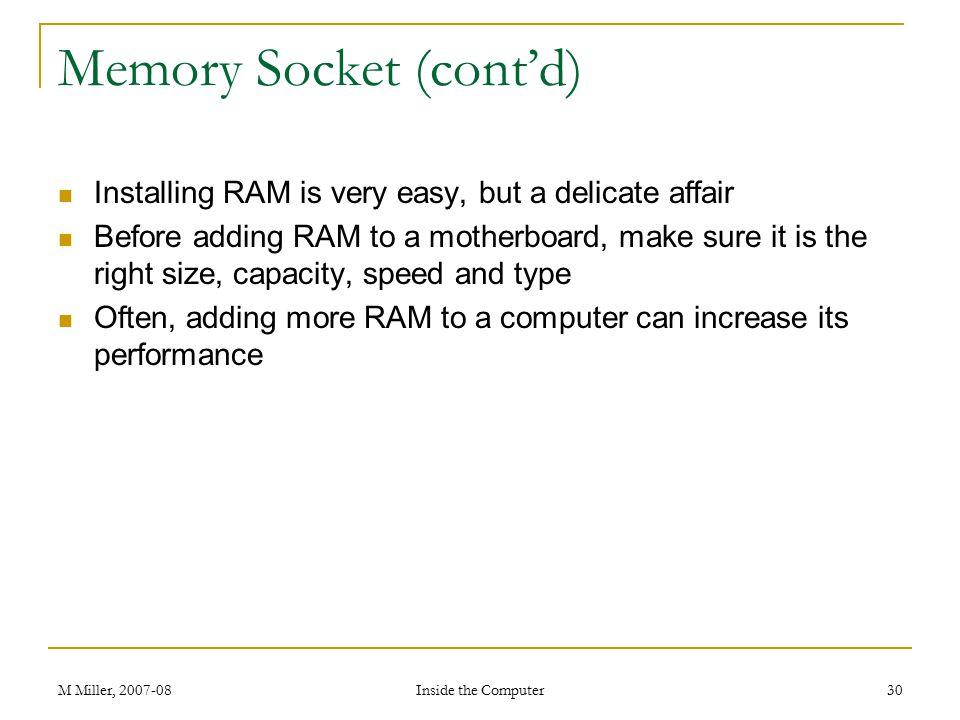 Memory Socket (cont'd)