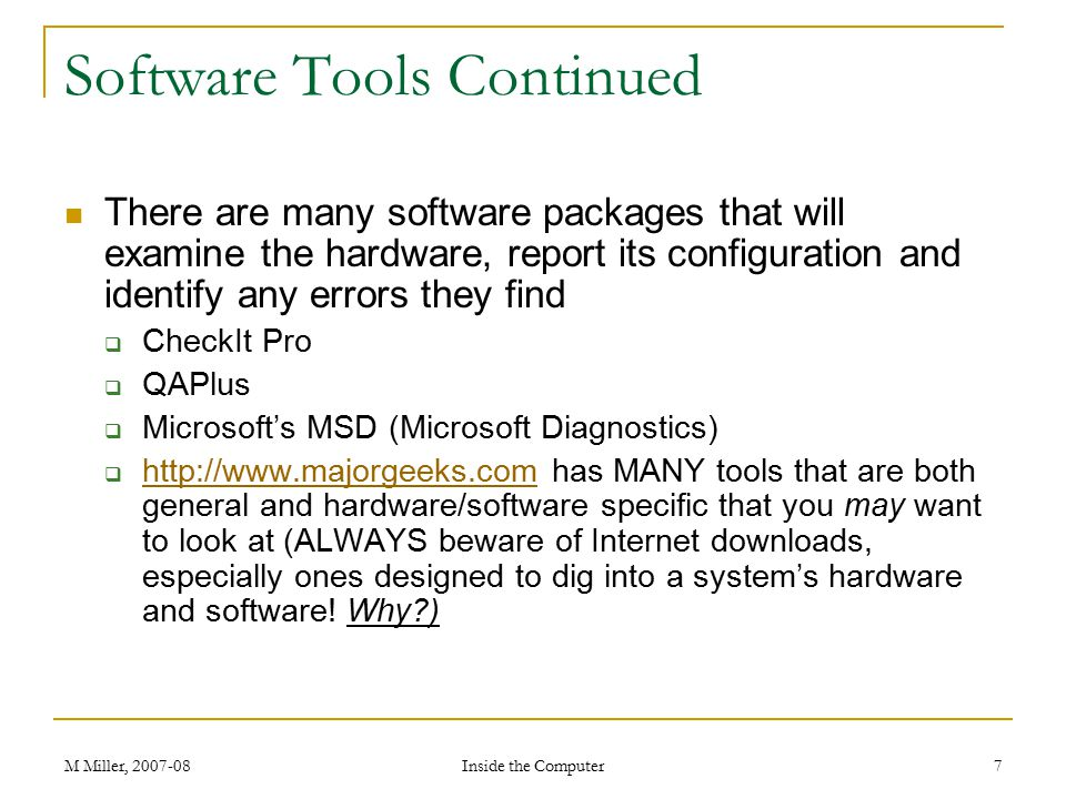 Software Tools Continued
