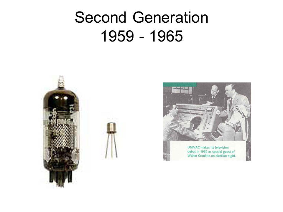 Second Generation 1959 - 1965