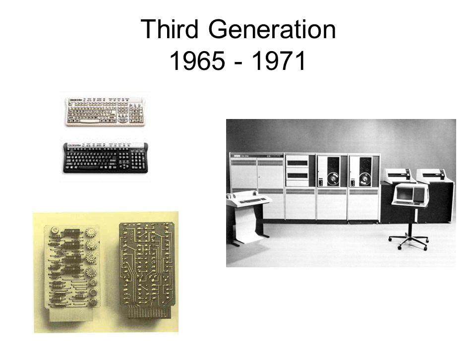 Third Generation 1965 - 1971