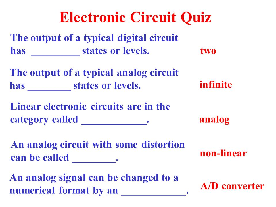Electronic Circuit Quiz