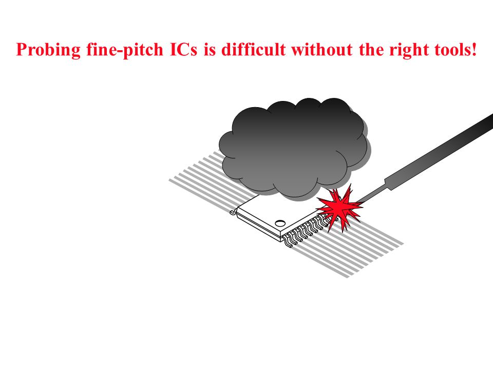 Probing fine-pitch ICs is difficult without the right tools!