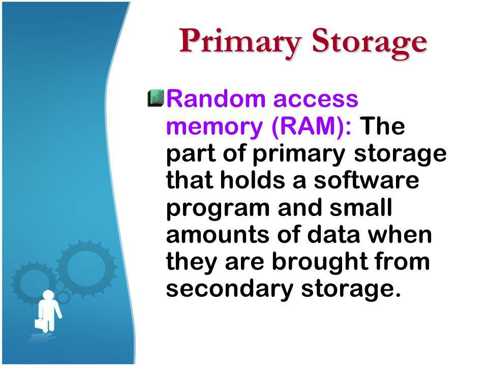 Primary Storage