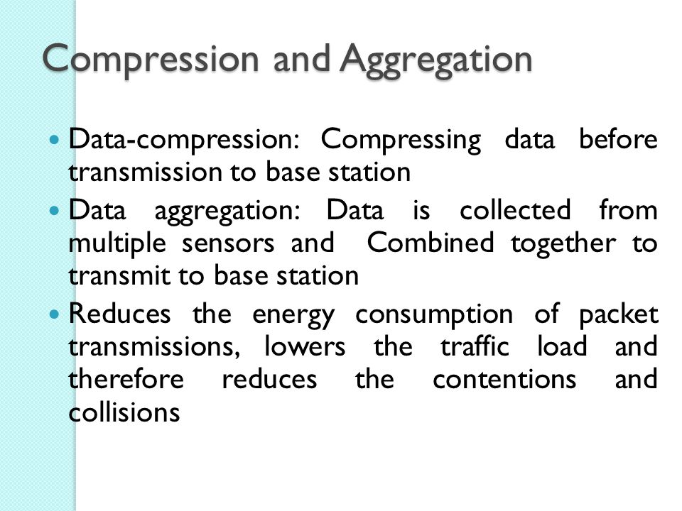 Compression and Aggregation