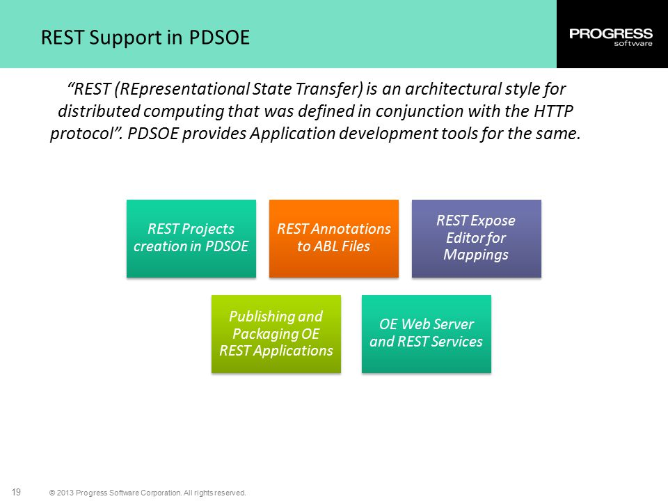 REST Support in PDSOE