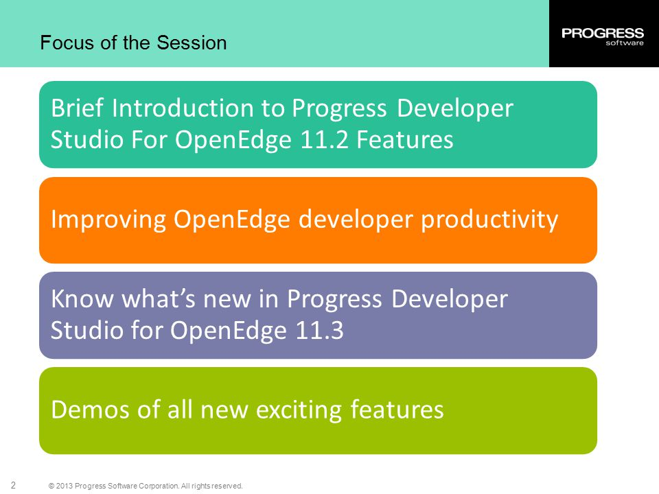 Improving OpenEdge developer productivity