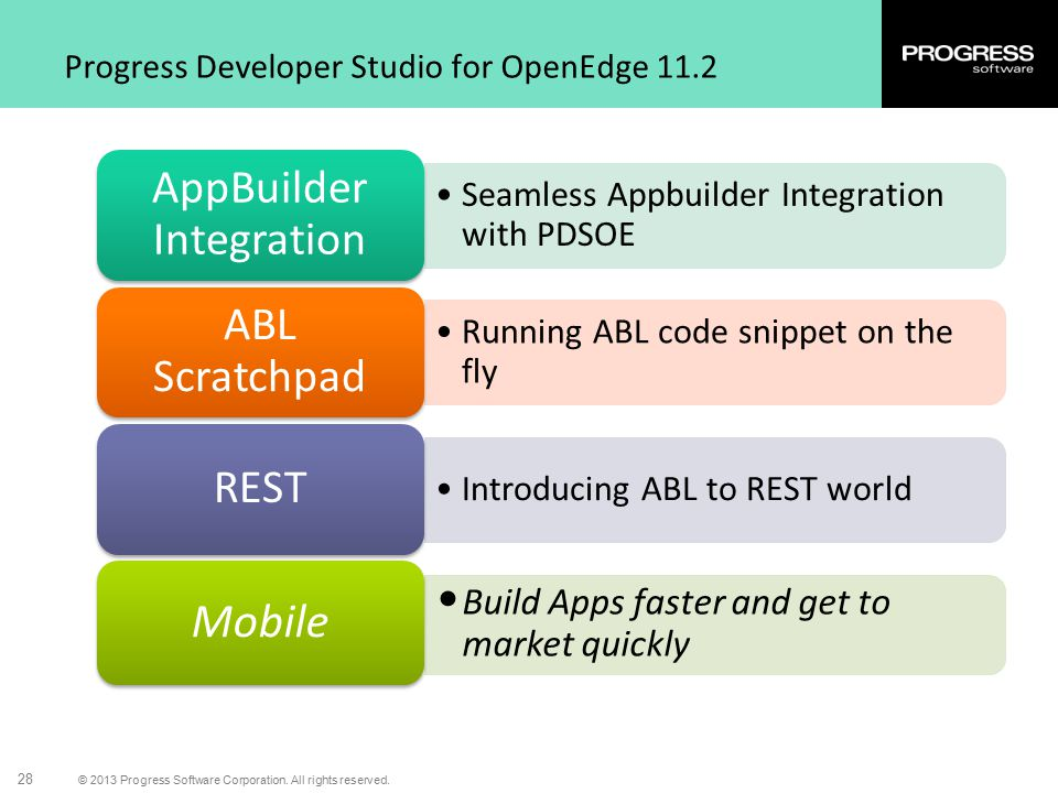 Progress Developer Studio for OpenEdge 11.2