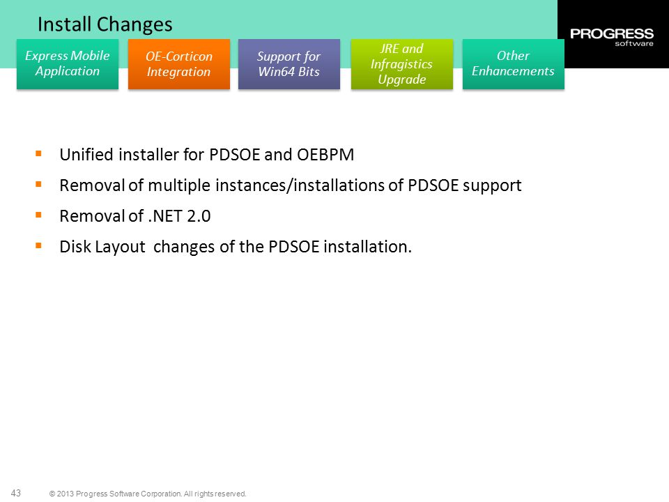 Install Changes Unified installer for PDSOE and OEBPM