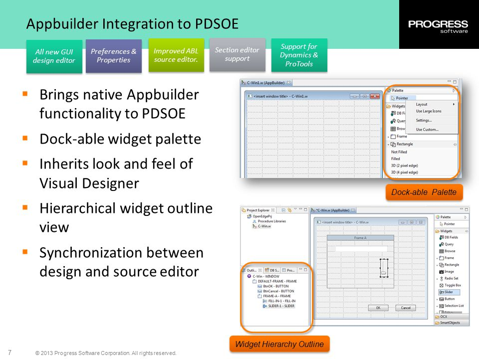 Appbuilder Integration to PDSOE
