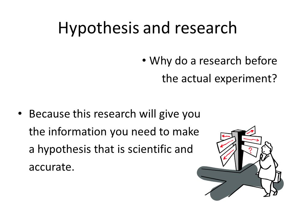 Hypothesis and research