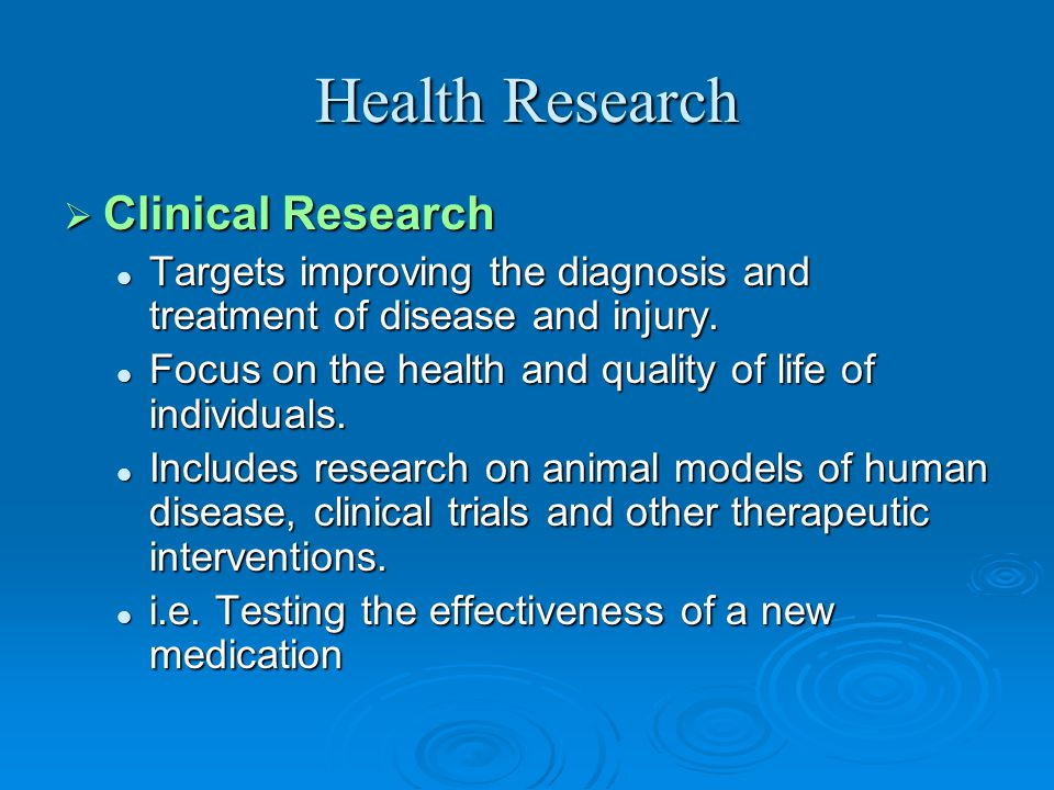 Health Research Clinical Research