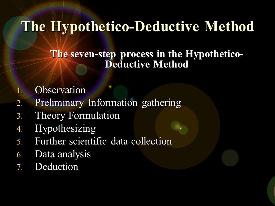 The Hypothetico-Deductive Method