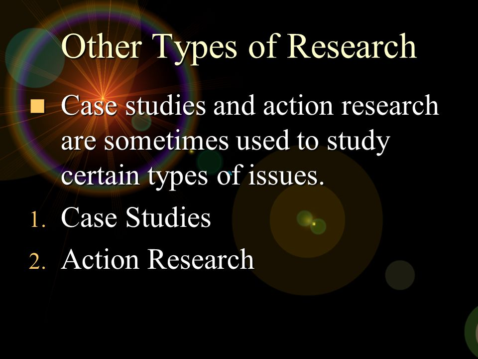 Other Types of Research