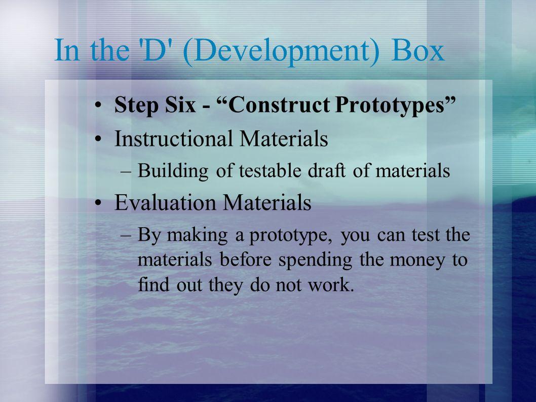 In the D (Development) Box