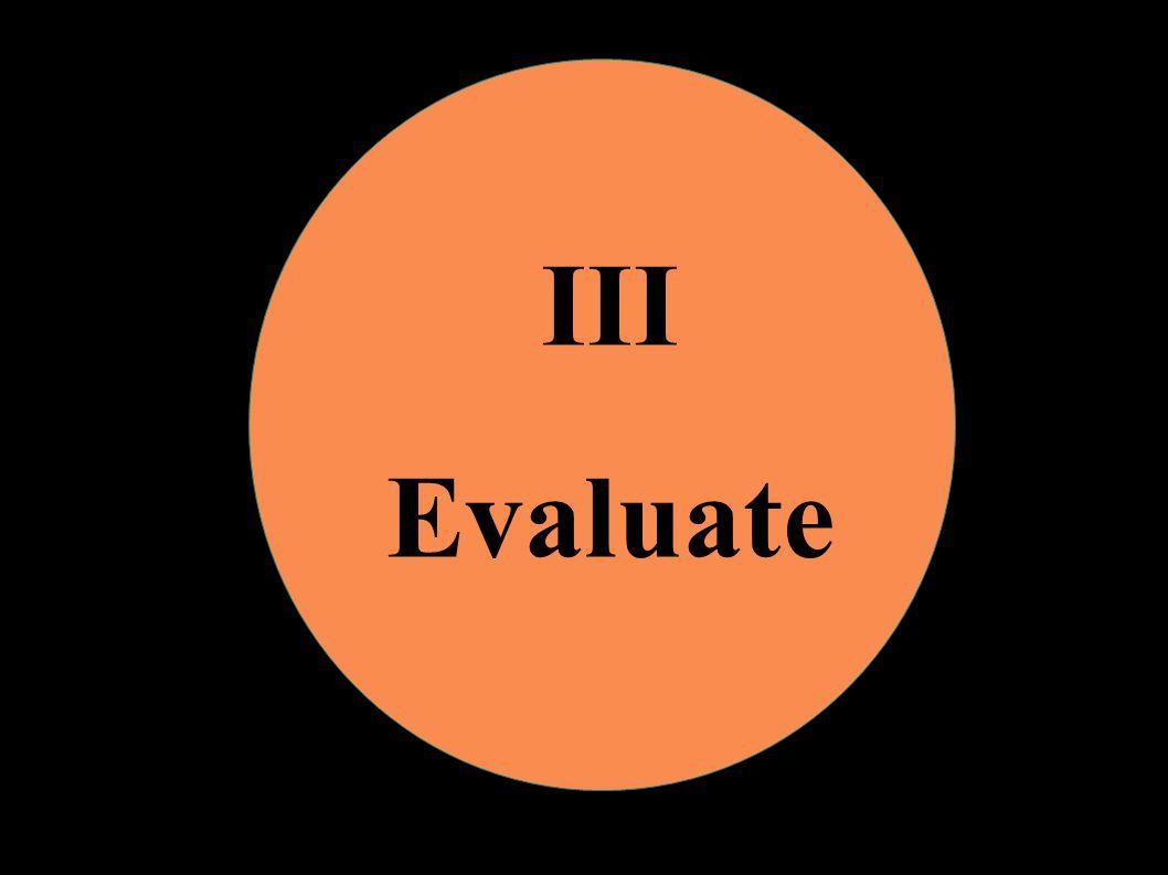 III Evaluate
