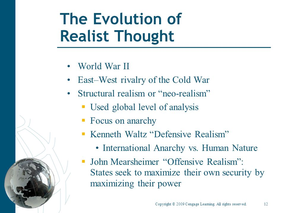 The Evolution of Realist Thought