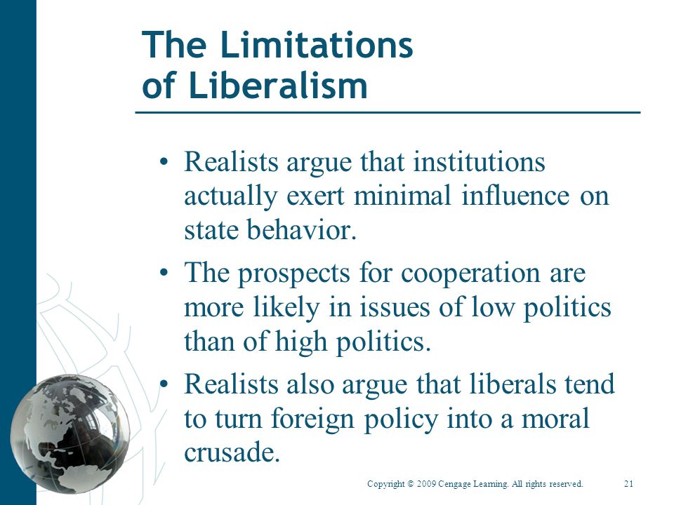 The Limitations of Liberalism