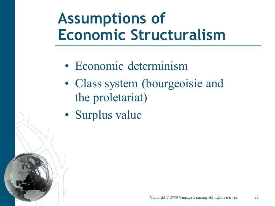 Assumptions of Economic Structuralism
