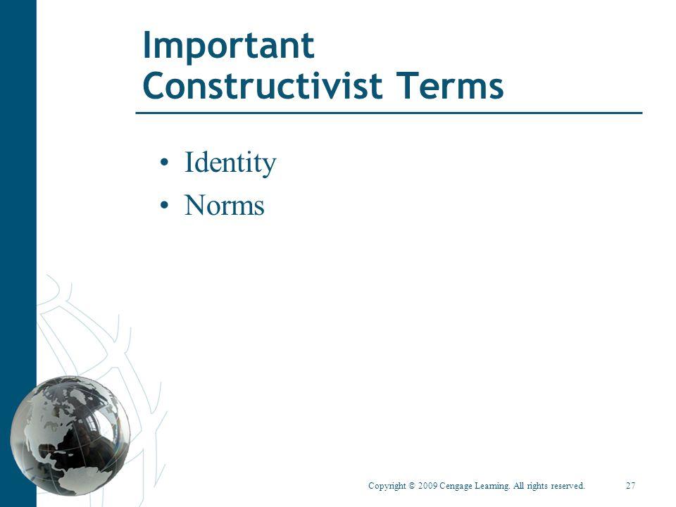 Important Constructivist Terms