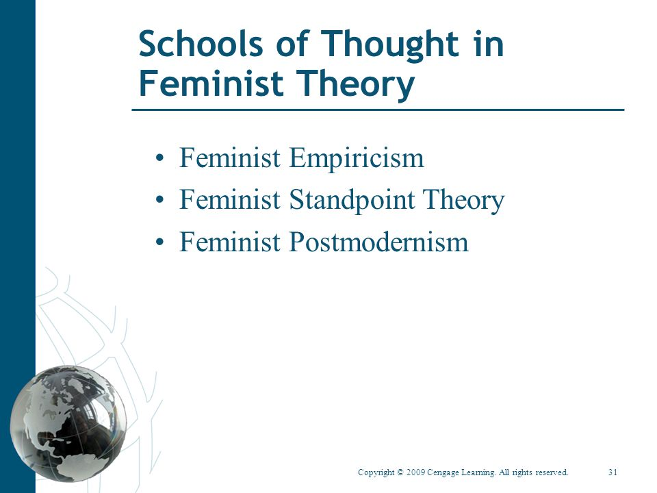 Schools of Thought in Feminist Theory