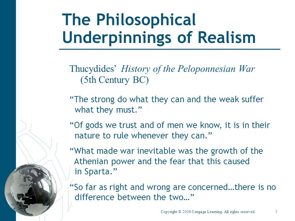 The Philosophical Underpinnings of Realism