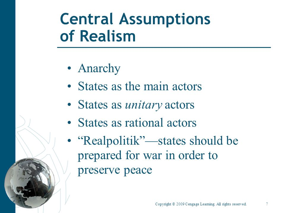Central Assumptions of Realism