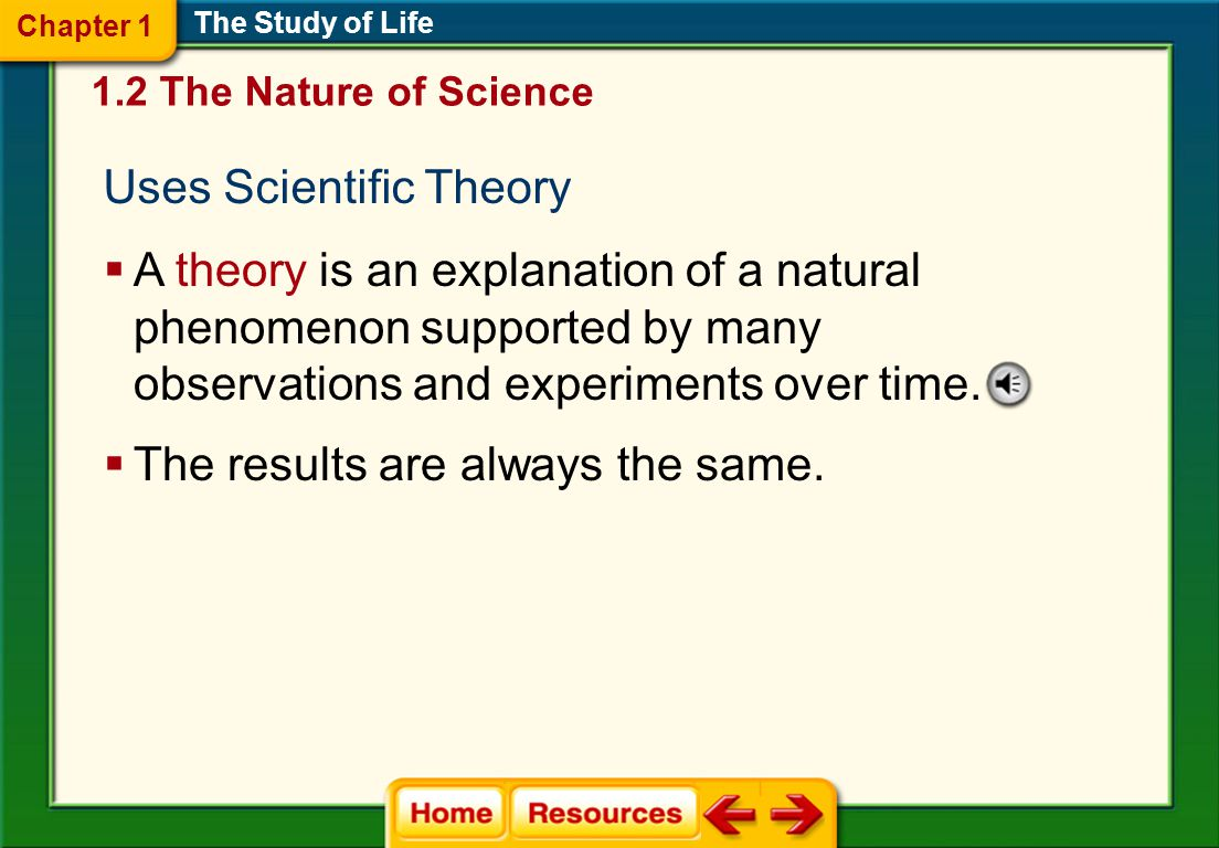 Uses Scientific Theory