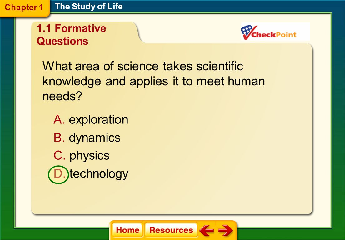 What area of science takes scientific