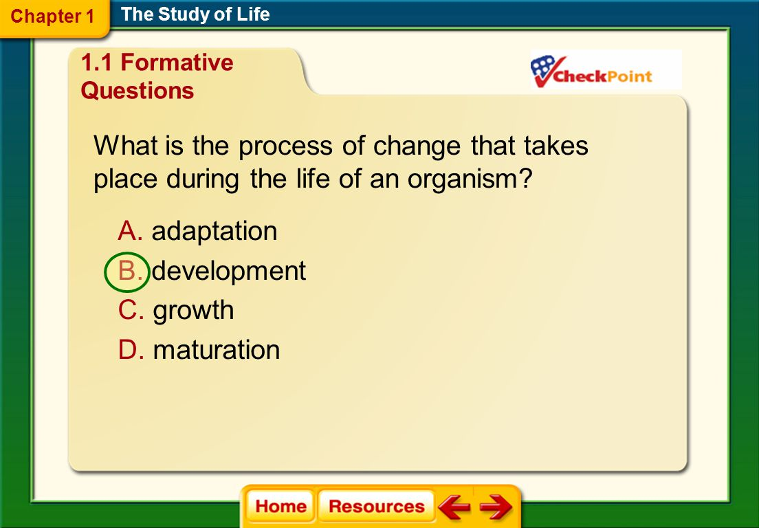 What is the process of change that takes