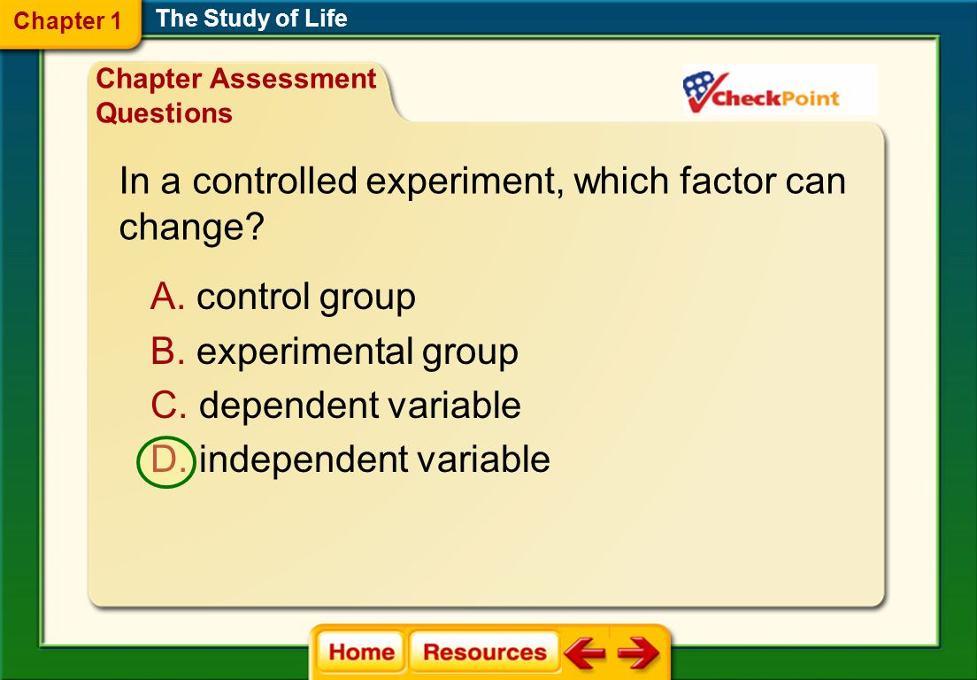 In a controlled experiment, which factor can change